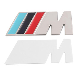 $enCountryForm.capitalKeyWord Australia - 3M M Series Big Mpower M-tech on Car Trunk Badge Emblem 3D Pure Metal Front Hood Grille Sticker logo   M M3 M5 for BMW Car Styling Sticker
