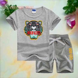 $enCountryForm.capitalKeyWord Australia - KNZO Little Kids Sets 1-7T Kids T-shirt And Short Pants 2Pcs sets Baby Boys Girls 95% Cotton Tiger Design kids designer clothes boys