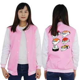 Girls pink sweatshirt online shopping - Womens Harajuku Sweatshirt Kawaii Sushi unicorn Jacket Coat Pink Clothes for Teenage Girls Korean Baseball Jacket Winter Women