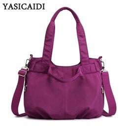 $enCountryForm.capitalKeyWord Australia - YASICAIDI Preppy Solid Nylon Casual Tote Ladies Hand Bags Lightweight Women Shoulder Bag Portable Crossbody Bag sac main femme
