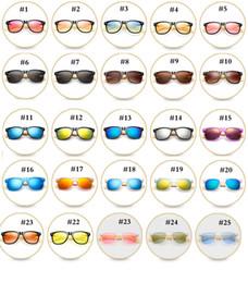 Ingrosso 47 Colori Occhiali da sole polarizzati in legno Gambe di bambù Occhiali da sole moda Occhiali da equitazione da esterno Occhiali da sole uomo e donna MMA2113