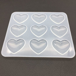 $enCountryForm.capitalKeyWord Canada - Heart DIY Epoxy Resin Crafts Jewelryes Making Handmade Tools Mirror Crystal Silicone jewelry molds Cake Fondant Chocolate Decora Wholesale