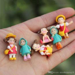 Figure Films Australia - Discout T610 (6pcs lot) Kawaii My Neighbor Totoro Action Figure Hayao Miyazaki Film Miniature Figurines Toys Japanese Cute Anime Toy Figures