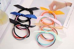 Headbands Bow Australia - kids designer headbands candy color hair bows for babies cute outdoor baby girl headbands hair accessories for party