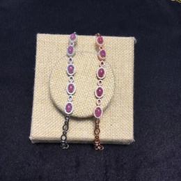 $enCountryForm.capitalKeyWord Australia - Ruby Jewelry Set Three-Piece Bracelet Earrings Necklace from Kenya, Africa