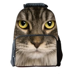 0f9f9d60faeb iMaySon 3D Animal Cute Dolphin Printing Head School Bag Unique Youth  Backbag Children Teenager Boys Tourism Polyester Backpack Dinosaur Face
