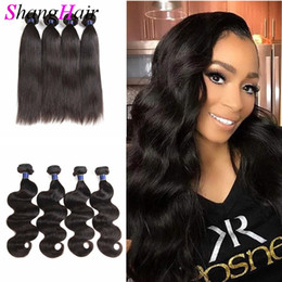 indian human hair extensions cheap Canada - Real Quality Cheap Brazilian Hair Bundles Virgin Brazilian Straight Human Hair Extensions Peruvian Malaysian Indian Human Hair Body Wave