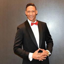 $enCountryForm.capitalKeyWord Australia - Groom Tuxedos Slim Fit Men Suits for Wedding Man Items Black Shawl Lapel Party Blazer trajes de hombre Costume Homme 2Piece Terno Masculino