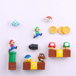 Magnet stickers for kids online shopping - 1Set Resin D Super Cute Mario Fridge Magnets Suit for Kids Figurines Wall Marios Bullets Bricks Home Decoration Ornaments
