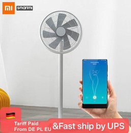 Wholesale XIAOMI MIJIA SMARTMI Standing Floor Fan 2 2S DC Pedestal Standing portable Fans Rechargeable Air Conditioner Natural Wind