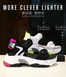 $enCountryForm.capitalKeyWord Australia - Sandals Women 2019 New Summer Womens Shoes Magic Added Gao Ladies Sandals Leisure Beach Daddy Shoes Wholesale