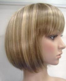 $enCountryForm.capitalKeyWord Australia - WIG MISS 00994 short pretty blonde mix brown hair wigs for women+wig cap(hairnet)