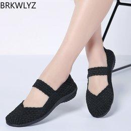 Brown Ballerina Flats NZ - 2019 Spring women flats Shoes women woven ballerina ballet flats ladies slip on loafers shoes female footwear flat 551