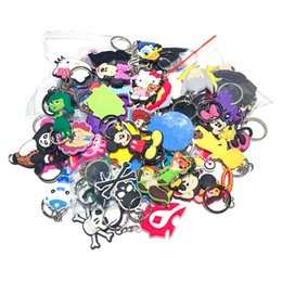 trinket toys Australia - 100pcs lot Mix Style Random PVC Cartoon Key Chain Key Ring Children Anime Figure Keychain Key Holder Kid Toy Pendant Trinket SH190924