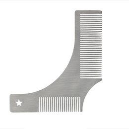 high quality hair combs UK - Popular High Quality styling Comb silvery classical Smooth Metal Beard Care Double Comb Mustache Beauty Comb