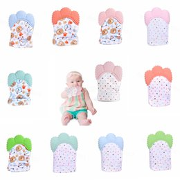 Baby Teething Glove Child Sucking Fingers Thumb Sound Silicone Baby Nursing Teether Pacifier Newborn Dental Care Durable smoothers FFA3435 from latex doll child suppliers