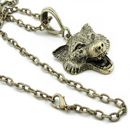 $enCountryForm.capitalKeyWord Australia - Wolf Head Necklace Animal Power Norse Viking Amulet Necklaces Pendant Men Women Gifts Jewelry Antique Silver Craft Fashion Accessory