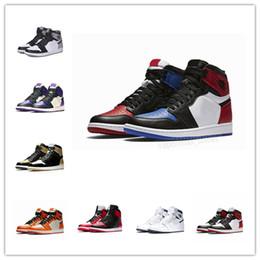 elephant print shoes 2019 - [With sport watch]Mens 1 high OG basketball shoes 1s NRG igloo banned chameleon shadow toe elephant print Chicago royal