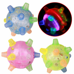 Plastic Dog Balls Australia - Flashing Dog Ball For Games Kids Ball Led Pets Toys Jumping Joggle Crazy Football Children's Funny Colored dog toy
