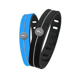 Silicone Ion Sports UK - New arrival negative Ion silicone wristband basketball sports power bracelet balance hologram bangle lover's best gift