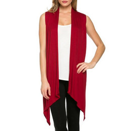 $enCountryForm.capitalKeyWord UK - Women Summer Sleeveless Jacket Soft Outerwear Cardigan Long Top Coat Waistcoat