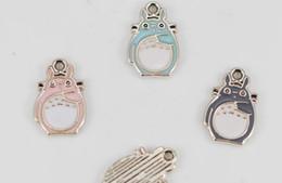 $enCountryForm.capitalKeyWord Australia - New lot 10Pcs Japanese anime My neighbor totoro DIY Necklace Key chain earrings Metal Charm Pendants Jewelry Making