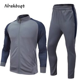 $enCountryForm.capitalKeyWord Australia - NRAHBSQT Running Clothing Two Piece Suit Long Sleeve Jacket+Pants Men Compression Set Sport Football Training Suit For Men RS018