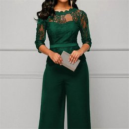 $enCountryForm.capitalKeyWord Australia - Women Summer Party Sexy Jumpsuit Summer Fall Bodycon Lace Sleeve Playsuit Female Fashion Jumpsuit&Romper Long Trousers Clubwear