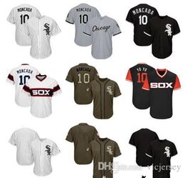 youth blank baseball jersey Australia - Men Women Youth White Sox Jerseys 10 Moncada Blank Jersey Baseball Jersey Black White Grey Green Salute to Service Players Weekend All-star