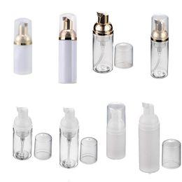 plastic soap pumps bottle 2019 - Empty Plastic PET Travel Foamer Bottles Hand Wash Soap Mousse Cream Dispenser Bubbling Bottle 30ml 50ml Clear White Gold