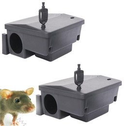Garden Station Australia - pestcontrol Lock Snap Traps Protect Cover Rodent Bait Station Rodenticide Plastic Box Pest Control for Household Home Garden