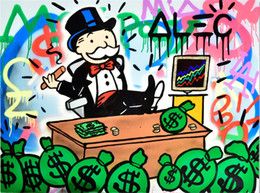 Stock Mirrors Australia - Alec Monopoly Art Stock,Oil Painting Reproduction High Quality Giclee Print on Canvas Modern Home Art Decor 4326