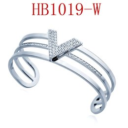 friendship day steel bracelet Canada - 2019 Wholesale price stainless steel jewelry Louis v bracelet friendship bracelets fashion designer jewelry women bangles