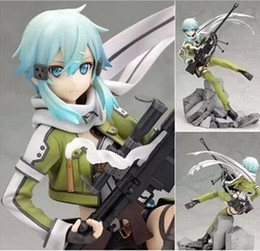 Online Dolls NZ - NEW hot 22cm Sword Art Online Asada Shino sao action figure toys collection doll toy Christmas gift with box