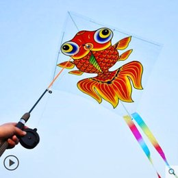 $enCountryForm.capitalKeyWord Australia - free shipping fishing pole kite plastic kite outdoor toys kids string parachute kites factory weifang albatross
