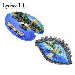 Kitchen Magnets Australia - Lychee Life Maldives Island Scenic Refrigerator Magnetic Sticker Landscape Fridge Magnet Souvenir Modern Home Kitchen Decor