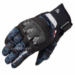 Mesh Fiber Australia - 2019 New Komine Carbon Fiber Motorcycle Gloves Summer Mesh Breathable Motocross Gloves Touch Screen Gant Moto M-XXL