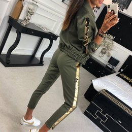 sport dress hoodie NZ - Hoodies Sports Tops Pants Tracksuit Sweatshirt Sweat Suit Women's Sports Suits Fall Winter Tracksuit Sexy 2 Piece Set T200702
