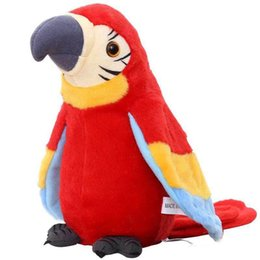Interactive Talking Toy UK - 22CM Electronic Parrot Stuffed Plush Talking Doll Interactive 8.7'' game Baby Animate plush toy 8.7inch Repeat Your Words Kids Bithday Gifts