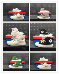 big eye sneakers Australia - (with box)2019 Design shoes Fashion kids Running Sneakers Low High Top Skate Big Eye shoes Casual shoes size24-35