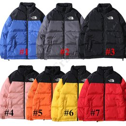 Boys students online shopping - Teenager Student Boys Girls Down Coat Jacket Cotton padded Clothes The North Hooded Coat Face Patchwork Color Tops Warm NF Outerwear C102404