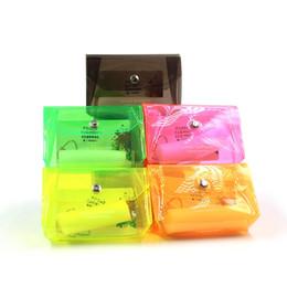 Lipstick For Black Women UK - Fashionable laser zero wallet for women pvc coin holder simple single button coin pocket storage bag lipstick bag