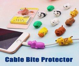 Venta al por mayor de Animal Cable Bites Colorido Cargador de datos USB Cables Protectores Saver Cable Cable Cubiertas protectoras para iPhone iPad Android
