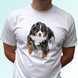 $enCountryForm.capitalKeyWord NZ - Berner white t shirt tee Bernese Mountain Dog in snow top kids baby Short Sleeve Plus Size t-shirt colour jersey Print t shirt