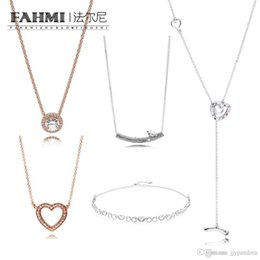 bird shaped jewelry Canada - FAHMI 100%925 Sterling Silver Basic Necklace Good Heart Shape Spring Bird Rose Gold Suitable DIY Pendant Female Original Jewelry Wholesale