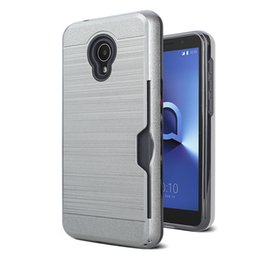$enCountryForm.capitalKeyWord Australia - Shockproof Card Slot Slide Phone Case Cover For MOTO E6 Samsung Note 10 10 pro PC back cover oppbag 100pcs at least