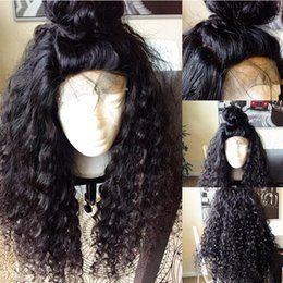 Ladies Long curLy hair online shopping - High Quality Lace Front Human Hair Wigs For Black Women Deep Curly Lace Front Wig Virgin Human Hair