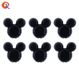 $enCountryForm.capitalKeyWord Australia - Cordial Design 50pcs lot 34*37mm Fashion Beads Jewelry Solid Black Color Chunky Mouse Acrylic Beads For Jewelry Kits J190620