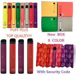 new vape kits 2020 - Puff Plus Cartridges Vape Pens Disposable Device Pod Starter Kit Packaging NEW Security Code 550mAh 3.2ML Oil Vaporizer
