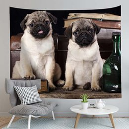 $enCountryForm.capitalKeyWord Australia - Kawaii Dog Printed Tapestry Wall Hanging Tapestry Animal Decorative Wall Tapestry Blanket Home Curtain Bedspread Table Cover RUIYUN076